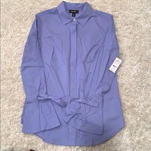 Women's button down bell sleeve shirt